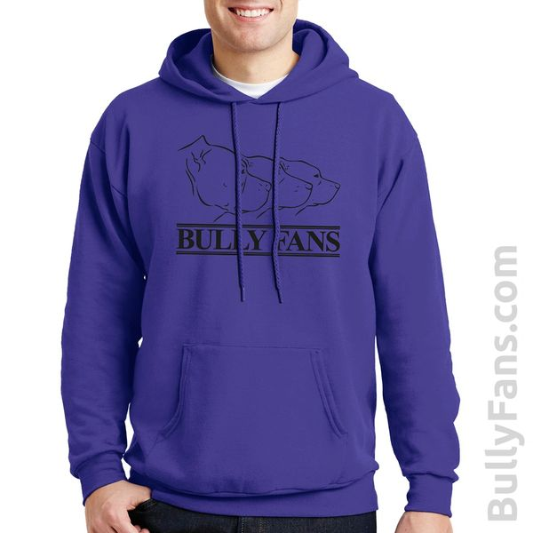 Bully Fans Logo Hoodie - Purple with Black Logo