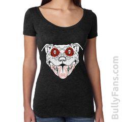 Bully Fans Bully De Los Muertos LADIES Scoop T-shirt