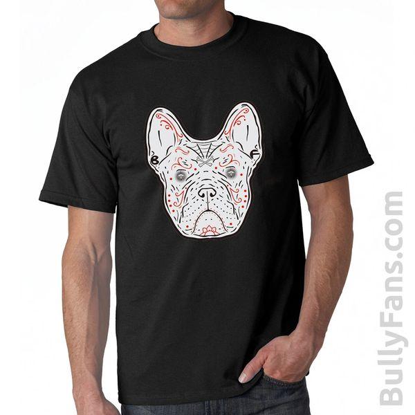 Bully Fans Frenchie De Los Muertos T-shirt - Black