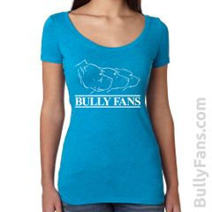 Bully Fans Logo LADIES Scoop Neck T-shirt - Teal