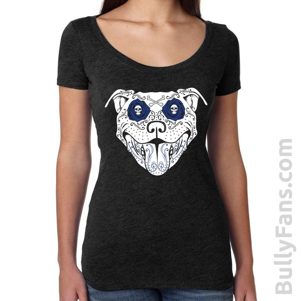 Bully Fans Bully De Los Muertos LADIES Scoop T-shirt