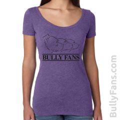 Bully Fans Logo LADIES Scoop Neck T-shirt - Purple