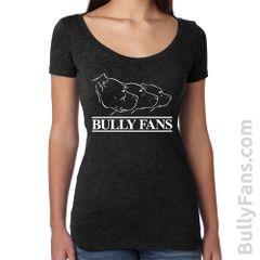 Bully Fans Logo LADIES Scoop Neck T-shirt - Black