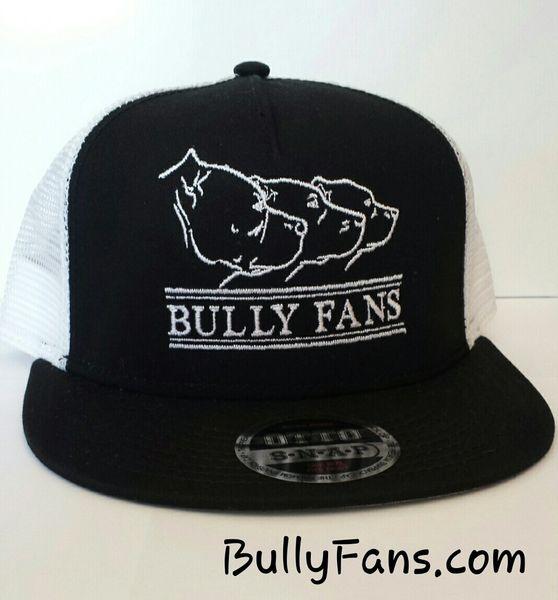 Bully Fans Logo Mesh Snapback - White