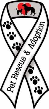 Pet Rescue & Adoption Ribbon Magnet