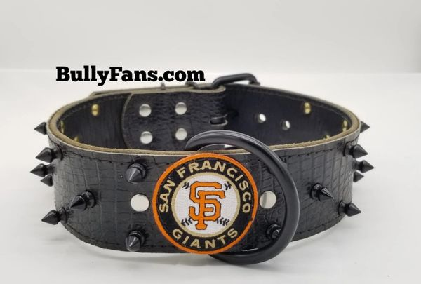 "2"" Black Gator Dog Collar with SF Giants Patch"