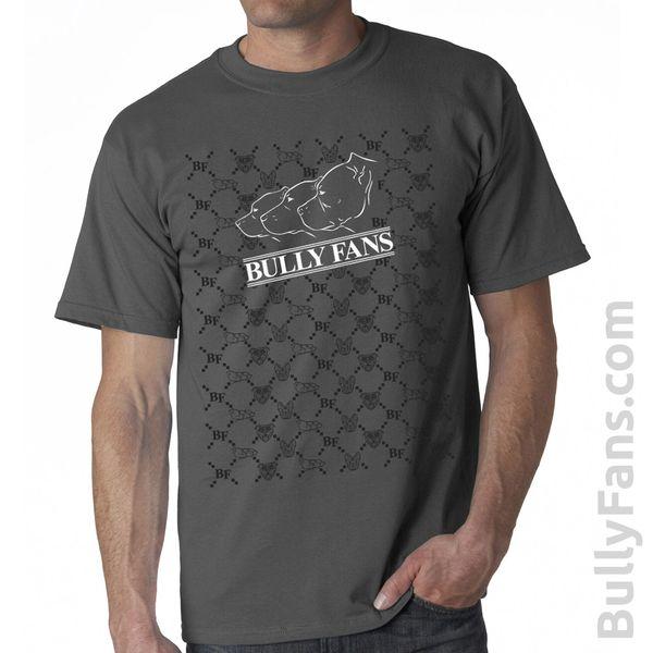 Bully Fans Designer Logo T-Shirt - Gray