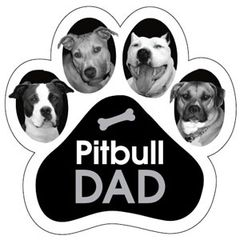 Pitbull Dad Paw Magnet