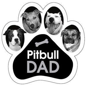 Pitbull Dad Paw Magnet
