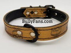 1 inch Gold MCM Dog Collar