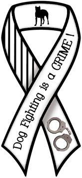 Dog Fighting is A Crime Ribbon Magnet