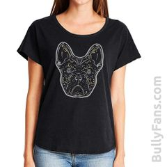 Bully Fans Ladies Gray Frenchie DeLosMuertos Top