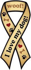 I Love My Dog Ribbon Magnet