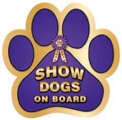 Show Dogs on Board Paw Magnet