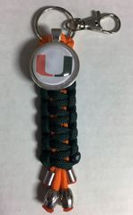 University of Miami Handmade Keychain