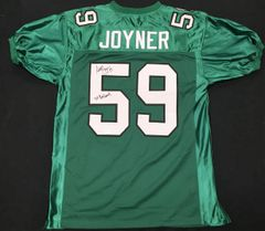 Seth Joyner Throwback Eagles Autographed Jersey 3x Pro-Bowl JSA COA