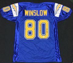 Kellen Winslow Throwback Chargers Autographed Jersey HOF '95 JSA COA