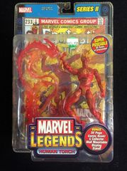 Marvel Legends HUMAN TORCH Series 2 2002 With Comic