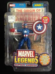 Marvel Legends CAPTAIN AMERICA Series 1 2002 With Comic