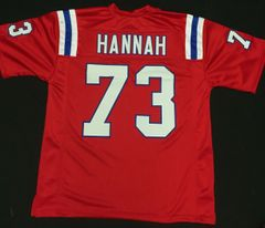 John Hannah Replica Home New England Patriots XL Throwback Jersey