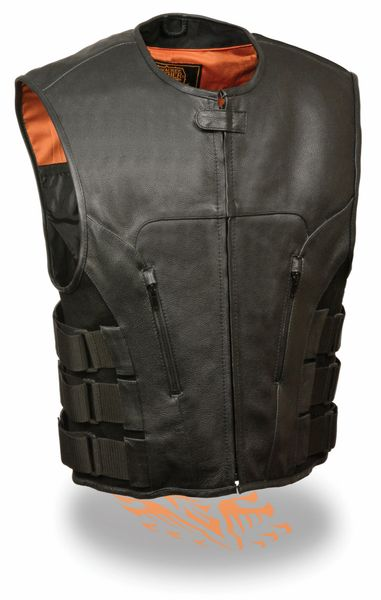 Men's SWAT Style Zipper Front Vest MLM3500