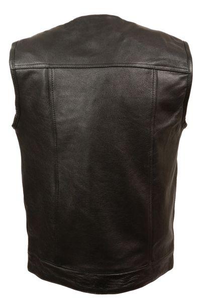 Men's Collarless Concealed Snap Club Vest LKM3721