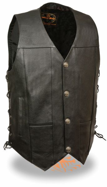 Men's Side Lace Vest w/ Buffalo Snaps LKM3701