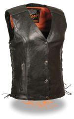 Ladies Vest w/ Stud & Wings Detailing. MLL4505