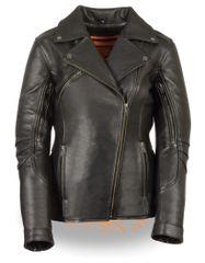 Women's Long Length Beltless Vented Biker Jacket MLL2580