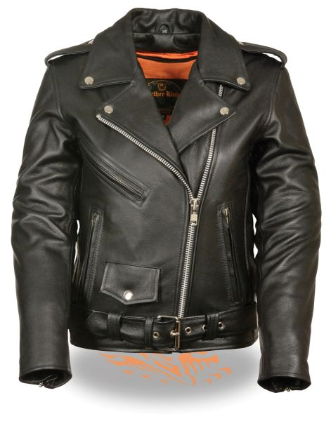 Women's Leather Classic M/C Biker Jacket LKL2701