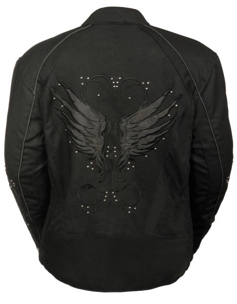 Women's Textile Jacket w/Stud & Wing Detail SH1954