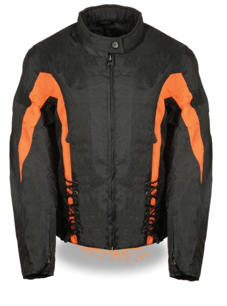 LADIES TEXTILE JACKET W/SIDE STRETCH & LACING SH2188
