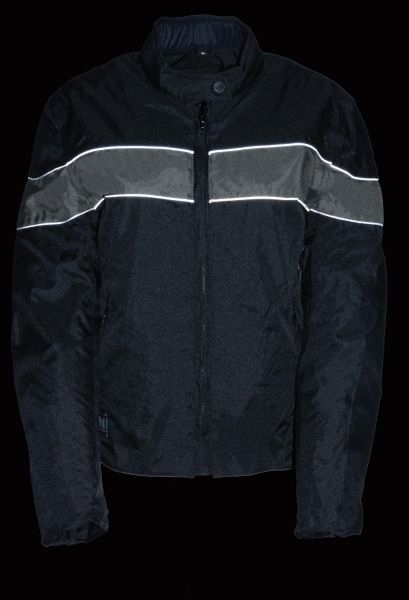 LADIES LIGHTWEIGHT TEXTILE JACKET W/STRETCH & REFLECTIVE PIPING SH2261