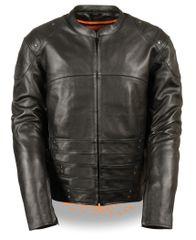 Men's Racer Motorcycle Jacket w/Triple Side Straps MLM1505
