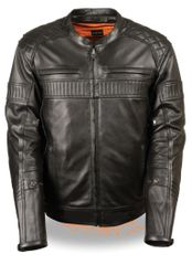 MEN'S QUILTED PATTERN TRIPLE VENT SCOOTER JACKET MLM1545