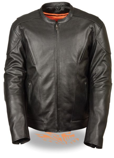 Men's Vented Scooter Jacket W/Kidney Back Padding MLM1530
