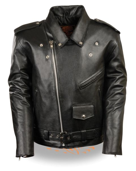 Men's Classic Plain Lace Police Style M/C Jacket LKM1781
