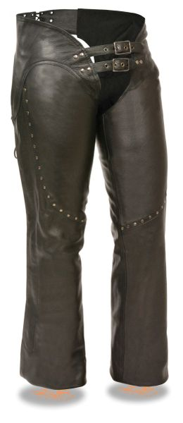 Woman's Low Rise Double Buckle Chap W/Rivet Detailing MLL1186