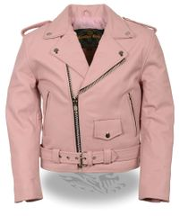 Kid's Traditional Style Leather Motorcycle Jacket SH2010