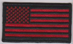 Red and Black American Flag