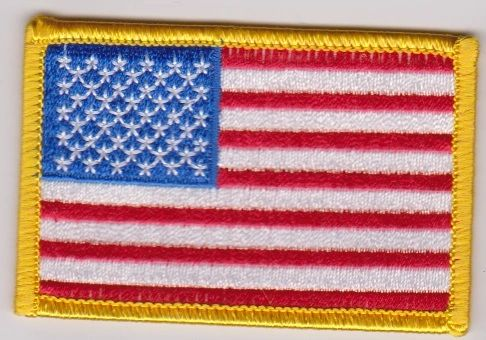 American Flag with Glod Border