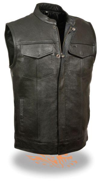 Men's Open Neck Snap/Zip Front Club Vest - LKM3710