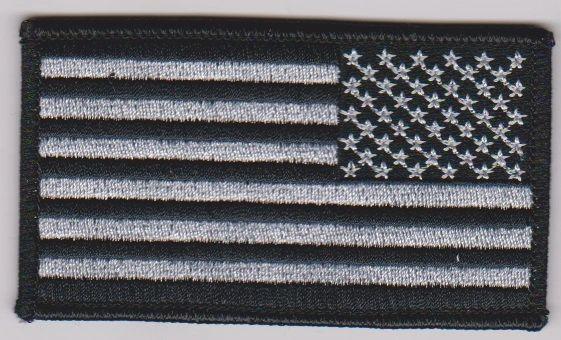 Reverse American Flag/Black