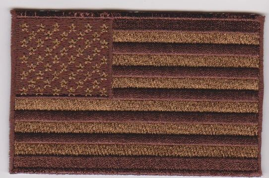 American Flag w/brown border