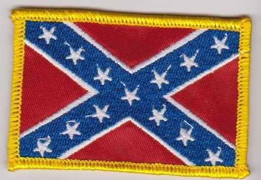 Confederate Flag with Gold Border