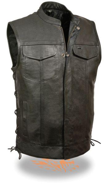 Men's Side Lace Snap/Zip Front Club Vest LKM3712