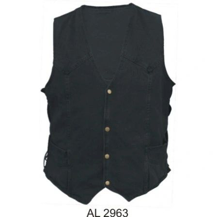 Men's Black Denim Vest AL2963