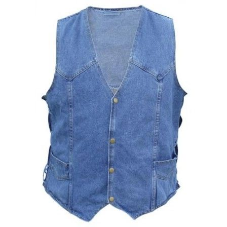 Men's Blue Denim Vest AL2961