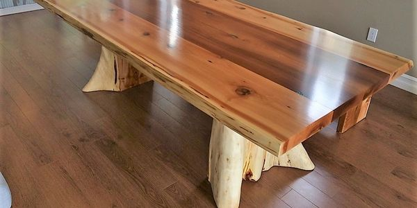 live edge table by Deep Forest
