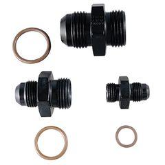 #10 x 7/8-14 straight radius o-ring fitting black